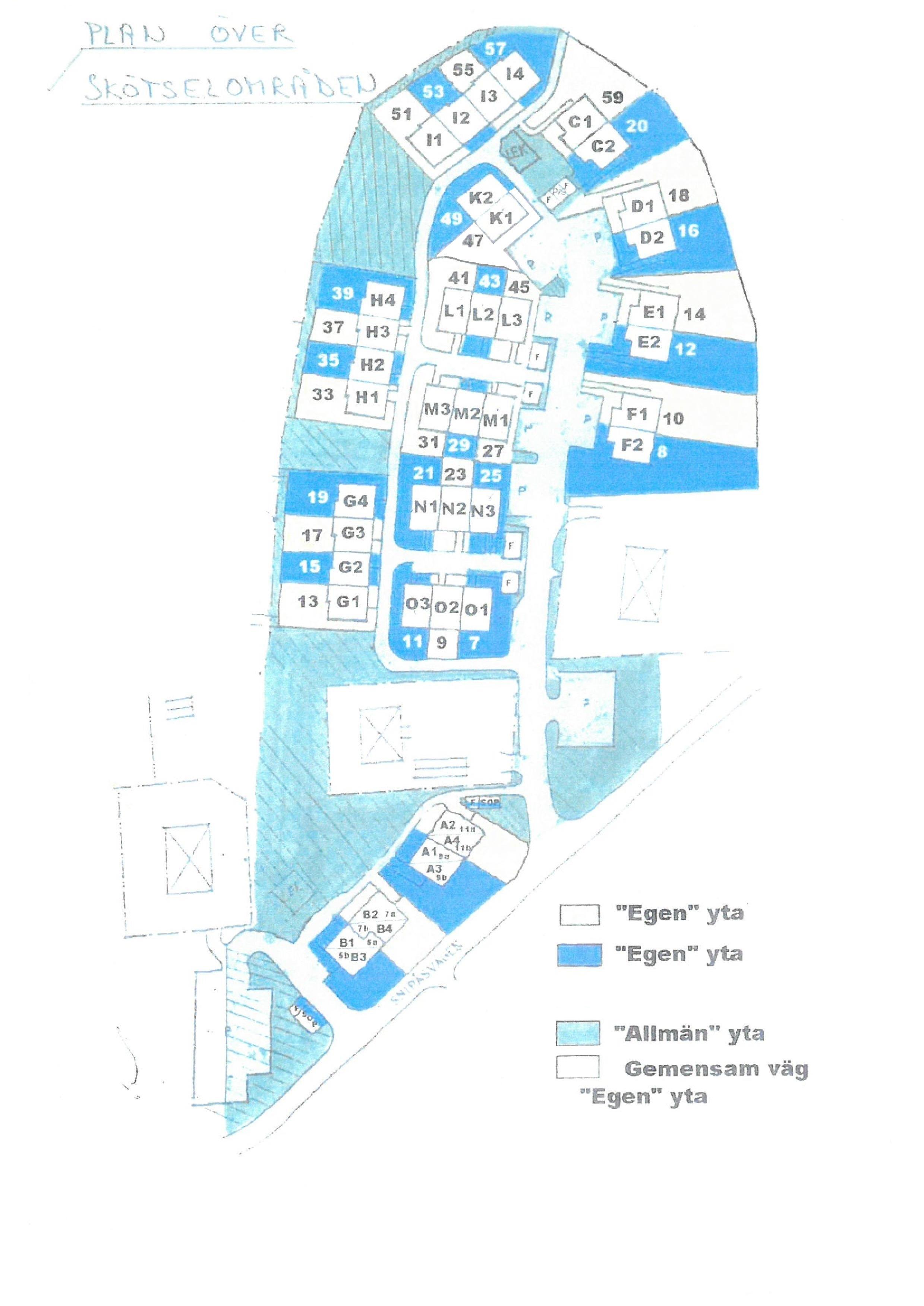 Karta Pa Skotselomraden Brf Stenhagen I Tollered